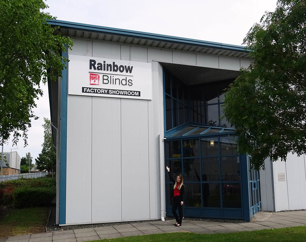 Welcome to Rainbow Blinds Manufacturing factory, Wishaw Scotland UK
