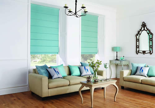 Roman blinds manufactured by Rainbow Blinds Trade Supplier UK